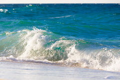 Waves on the beach of a tropical sea Royalty Free Stock Images