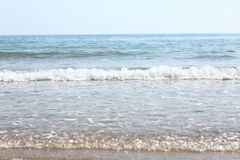 Waves on the beach Stock Photography