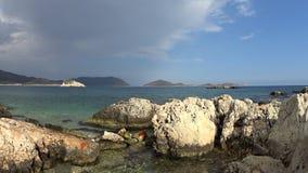 Waves on the beach. Of the Mediterranean Sea in Turkey near the Sisla Mevki stock video