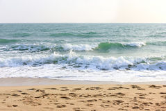 Waves on the beach Royalty Free Stock Photography