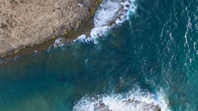 The waves beating against the rocks, wedding day! stock footage