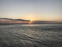 Just a beautiful sunset over the sea Royalty Free Stock Photos