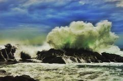 The waves. The big waves in nglambor beach. Gunung kidul jogjakart Stock Image