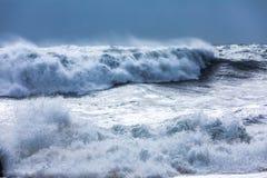 Waves on the black beach of Reynisfjara in Iceland Stock Photos
