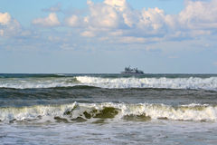 Waves of the Black Sea, Anapa, Krasnodar Krai. Stock Image