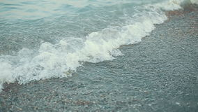 Waves at the Black sea stock footage