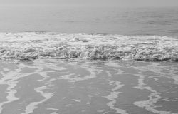 The waves in black and white Royalty Free Stock Photo