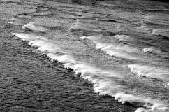 Waves black and white. Relaxing natural seascape scenery. Background Stock Photography