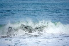 The waves in the blue sea. In the coast in the nature royalty free illustration