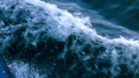 Waves from a Boat stock footage