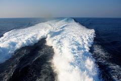 Waves from boats Stock Image