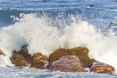 Waves breaking at the Cape of Good Hope Stock Image