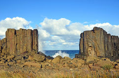 Free Waves Breaking Over Basalt Rock Formations Royalty Free Stock Image - 92045686