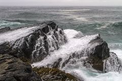 Waves breaking over rocks at Mistaken Point