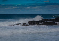 Waves breaking at rocks of the Indian Ocean at the Wild Coast of Stock Photography