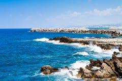 Rocky coast of the Mediterranean Sea Royalty Free Stock Photography
