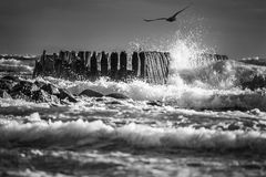 Waves breaking Royalty Free Stock Images