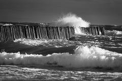 Waves breaking Stock Photo