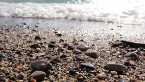 Waves breaking. Sea surf. Stock Image
