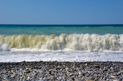 Waves breaking on the shore. Royalty Free Stock Image