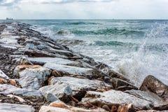 Waves breaking Stock Image