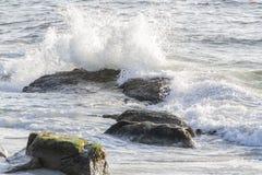 Waves On The California Coastline Stock Image