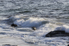Waves On The California Coastline Stock Images