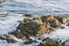 Waves On The California Coastline Royalty Free Stock Photos