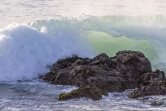 Waves On The California Coastline Royalty Free Stock Images
