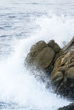 Waves On The California Coastline Stock Photos