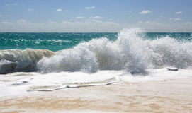 Waves of the Caribbean Sea. Playa los Cocos. Cayo Largo. Cuba Royalty Free Stock Photography