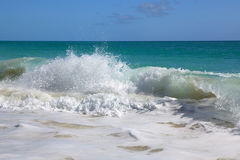 Waves of the Caribbean Sea. Stock Photography