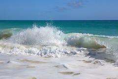 Waves of the Caribbean Sea. Playa los Cocos. Cayo Largo. Cuba Stock Photography