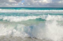 Waves at Carribean sea - natural background Stock Image