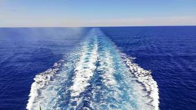 Waves caused by the Ferry during navigation.  stock footage