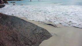 Waves at the coast. Anse Lazio, Seychelles stock footage