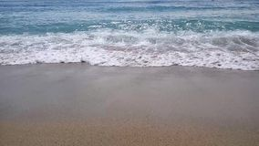 The waves on the coast stock footage