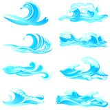 Waves Collection Stock Image