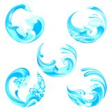 Waves Collection royalty free illustration