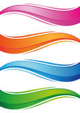 Waves of colorful banners set. Objects on a white background, vector illustration Royalty Free Stock Photography