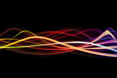 Waves of colors. A background design with waves or lines of bright colors Royalty Free Stock Photos