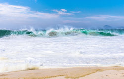 Waves on Copacabana beach in Rio de Janeiro Royalty Free Stock Photo