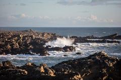 Waves Crash Against California Coast Stock Photos