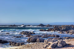 Waves Crash Ashore at Pacific Grove Stock Photography