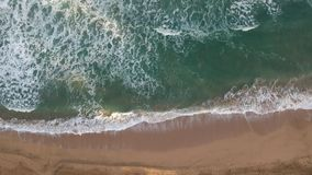 Slow motion of waves in Hanalei Kauai stock video