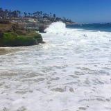 Waves Crash Royalty Free Stock Photo