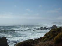 Waves Crashing. Ocean View Stock Photo