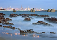 Waves Crashing Against Rocks Stock Photos