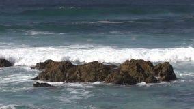 Waves Crashing Ashore stock footage