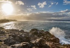 Waves Crashing Ashore on the Maui Coast Royalty Free Stock Photo